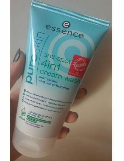 essence pure skin anti-spot 4in1 cream wash