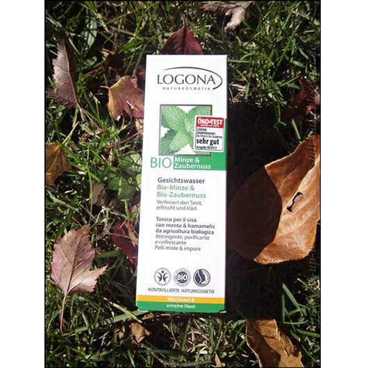 Logona Gesichtswasser Bio-Minze & Bio-Zaubernuss (Mischhaut und unreine Haut)