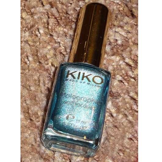 KIKO holographic nail lacquer, Farbe: 401 Peacock Green (Lavish Oriental LE)