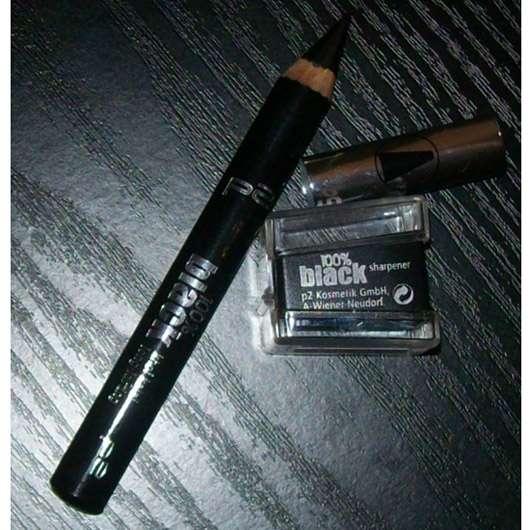 p2 100% black khol kajal long lasting, Farbe: 010 blackest black