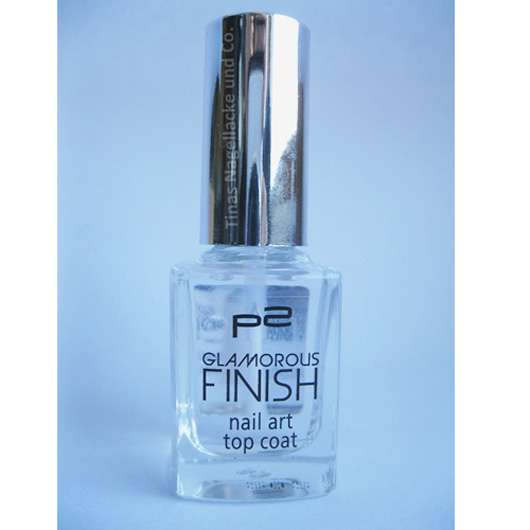 p2 glamorous finish nail art top coat, Farbe: 010 so perfect!