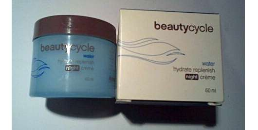 beautycycle water hydrate replenish night crème
