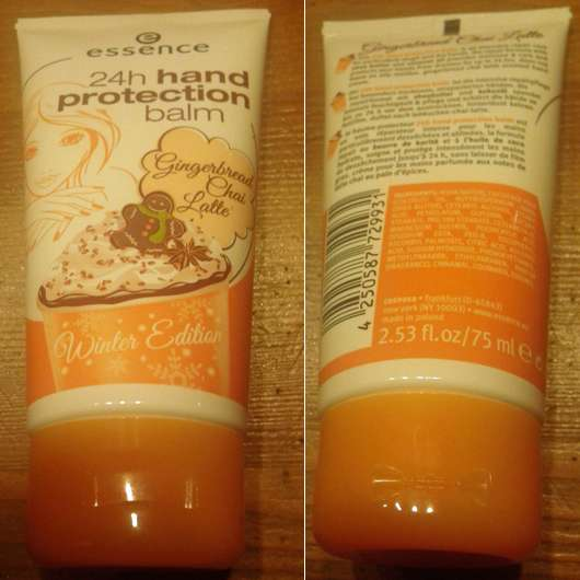 essence 24h hand protection balm gingerbread chai latte (LE)