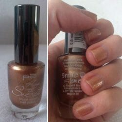 Produktbild zu p2 cosmetics keep the secret liquid metal nail polish – Farbe: 010 molten bronze (LE)
