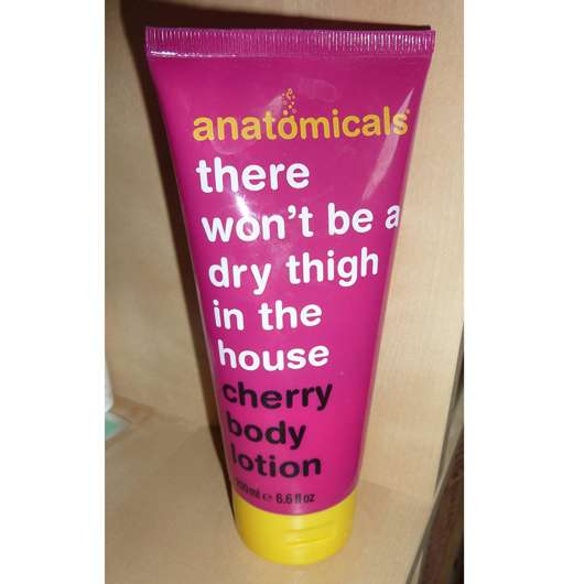 """<strong>anatomicals</strong> """"there won't be a dry thigh in the house"""" cherry body lotion"""
