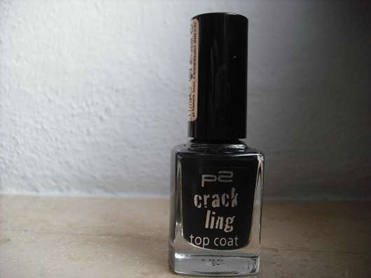 p2 crackling top coat, Farbe: 010 black explosion