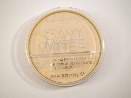 <strong>Rimmel London</strong> Stay Matte Long Lasting Pressed Powder - Farbe: Transparent
