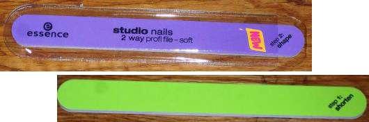 essence studio nails 2 way profi file – soft
