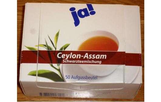 ja! Ceylon-Assam Schwarzteemischung (50 Aufgussbeutel)
