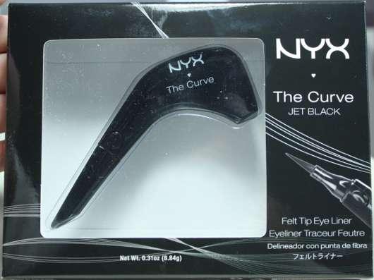 NYX The Curve Felt Tip Eye Liner, Farbe: Jet Black