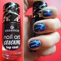 Produktbild zu essence nail art cracking top coat – Farbe: 01 crack me! black