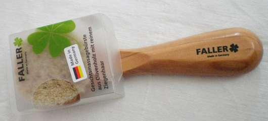 Faller Gesichtsmassagebürste aus Olivenholz mit reinem Ziegenhaar
