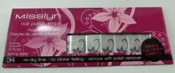 Produktbild zu Misslyn nail polish strips – Design: 34 spring fever