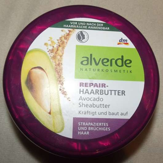 alverde Repair-Haarbutter Avocado Sheabutter