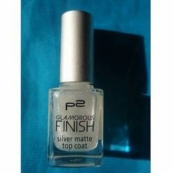 Produktbild zu p2 cosmetics glamorous finish silver matte top coat – Farbe: 050 get fancy!