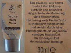 Produktbild zu Rival de Loop Young Perfect Matt Make-up – Nuance: 01 Vanilla