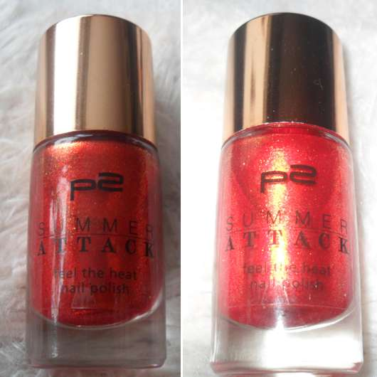 p2 summer attack feel the heat nail polish, Farbe: 040 hot berry (LE)