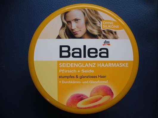 Balea Seidenglanz Haarmaske Pfirsich + Seide