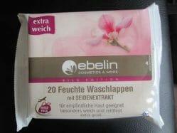 Produktbild zu ebelin 20 Feuchte Waschlappen mit Seidenextrakt