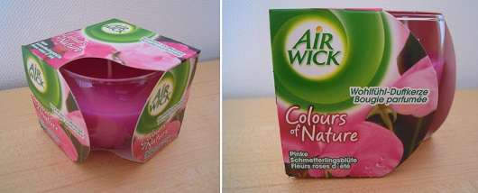 Air Wick Colours of Nature Wohlfühl-Duftkerze Pinke Schmetterlingsblüte