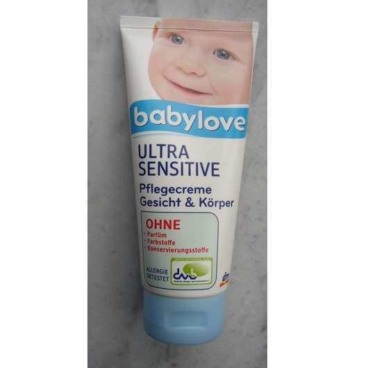 <strong>babylove</strong> Ultra Sensitive Pflegecreme Gesicht & Körper