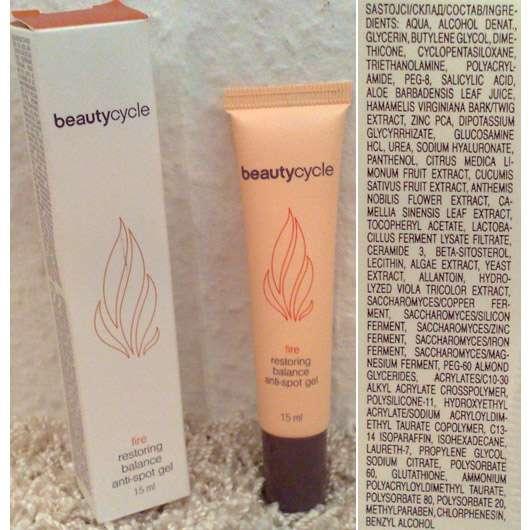 beautycycle fire restoring balance anti-spot gel