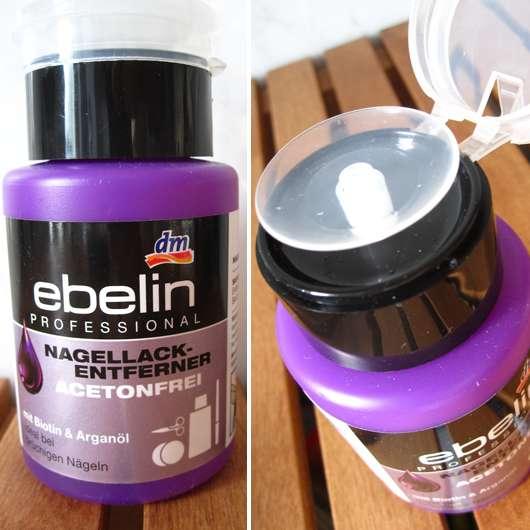 <strong>ebelin Professional</strong> Nagellackentferner Acetonfrei mit Biotin & Arganöl