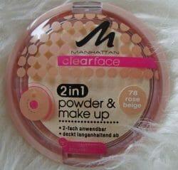 Produktbild zu MANHATTAN CLEARFACE 2in1 powder & make-up – Farbe: 78 Rose Beige