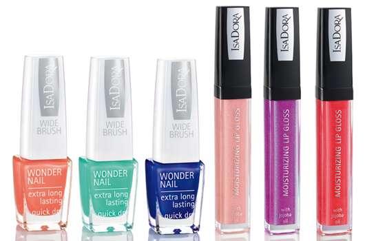 "IsaDora ""Aquatic"" Trend Color Collection Lips & Nails Summer 2013"