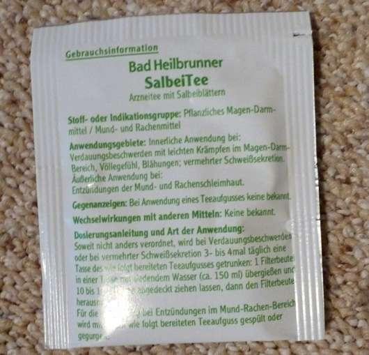 <strong>Bad Heilbrunner</strong> Salbei Tee