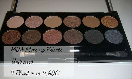 MUA Makeup Academy Eyeshadow Palette, Farbe: Undressed