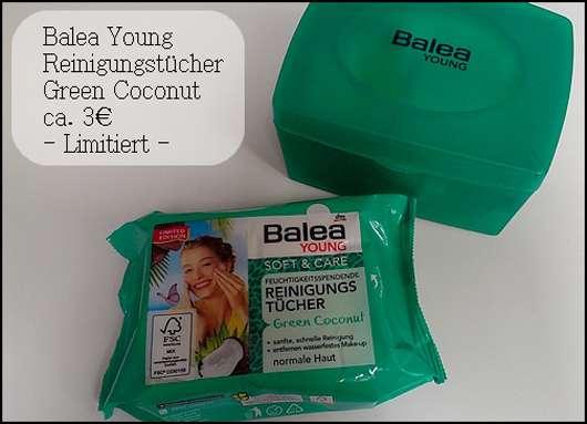 Balea Young Soft & Care Feuchtigkeitsspendende Reinigungstücher Green Coconut (LE)