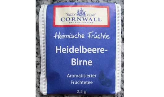 Cornwall Heimische Früchte Heidelbeere-Birne Aromatisierter Früchtetee