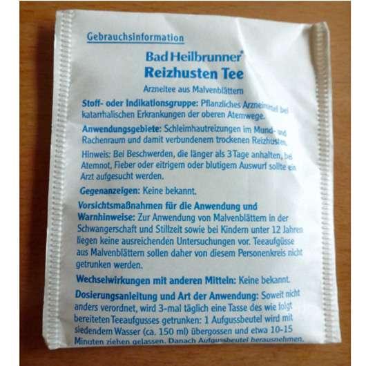 Bad Heilbrunner Reizhusten Tee