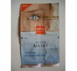 Produktbild zu Merz Spezial Augen Maske Hyaluron & Gurkenextrakt