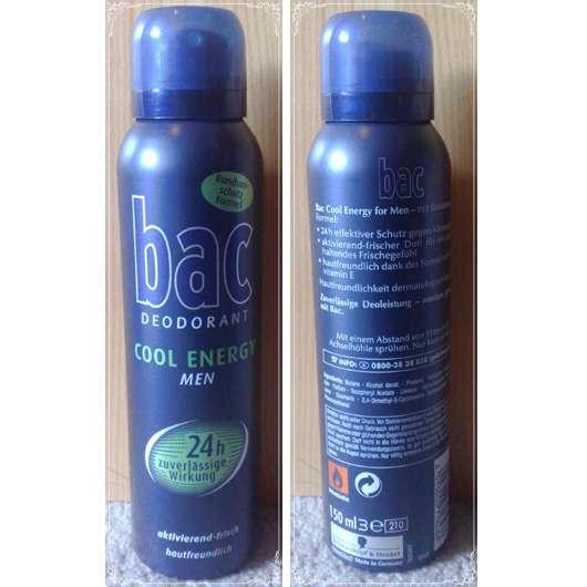 bac Deodorant Cool Energy Men