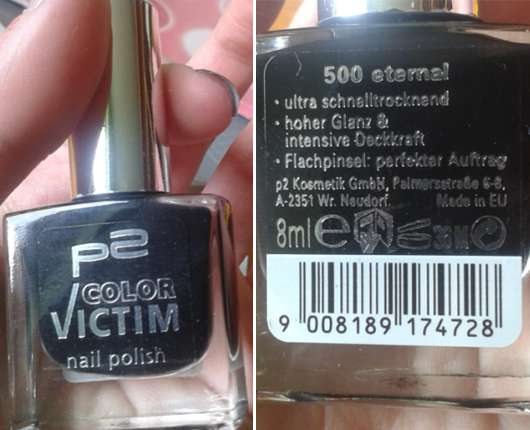 p2 color victim nail polish, Farbe: 500 eternal