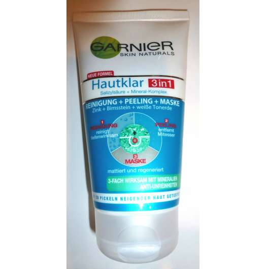 Garnier Hautklar 3in1 Reinigung + Peeling + Maske