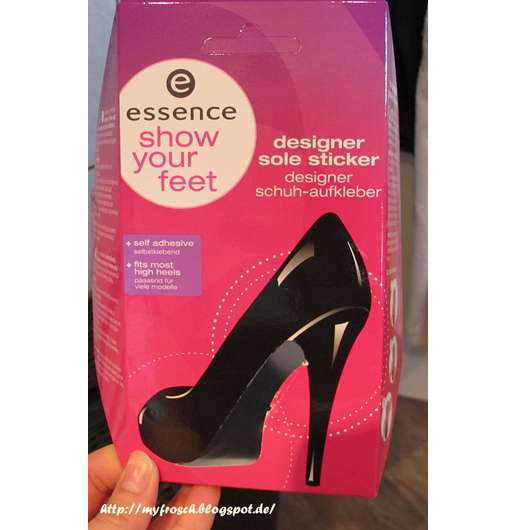 essence show your feet designer sole sticker - 02 pink is beautiful (LE)