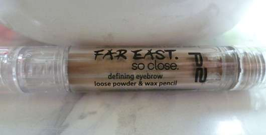 p2 far east so close defining eyebrow loose powder & wax pencil, Farbe: 010 best shaped (LE)