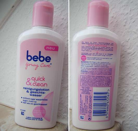 bebe Young Care Quick & Clean Reinigungslotion & Gesichtswasser