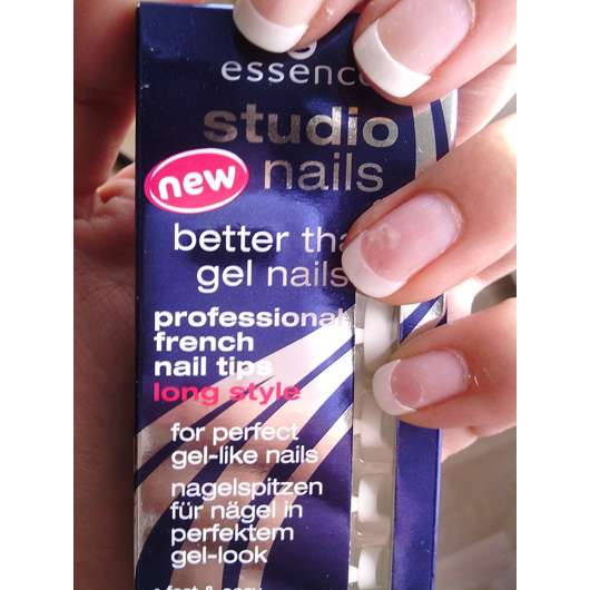 <strong>essence studio nails</strong> better than gel nails professional french nail tips long style