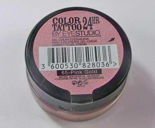 Maybelline Eyestudio Color Tattoo 24HR Gel-Cream Eyeshadow, Farbe: 65 Pink Gold
