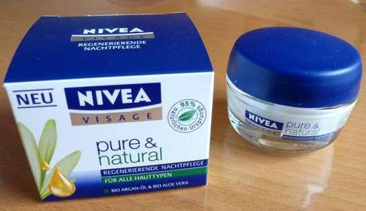 NIVEA Pure & Natural Regenerierende Nachtpflege