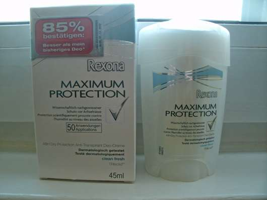 "Rexona Maximum Protection ""Clean Fresh"" 48H Dry Protection Anti-Transpirant Deo-Creme"