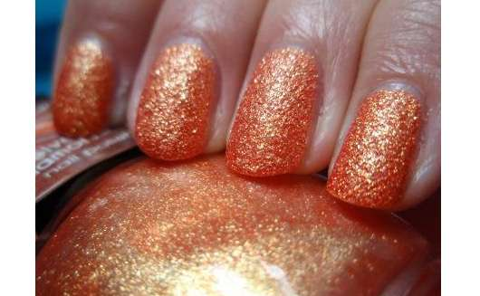 Misslyn velvet diamond nail polish, Farbe: 59 sparkling orange (LE)