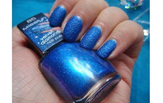 Misslyn velvet diamond nail polish, Farbe: 85 royal blue