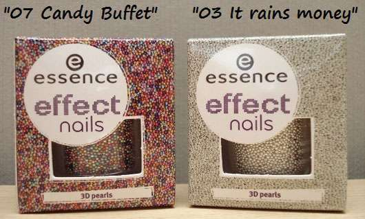 essence effect nails 3D pearls, Farbe: 03 it rains money & 07 candy buffet (LE)