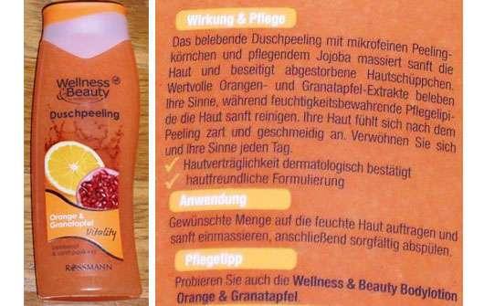 Wellness & Beauty Duschpeeling Orange & Granatapfel