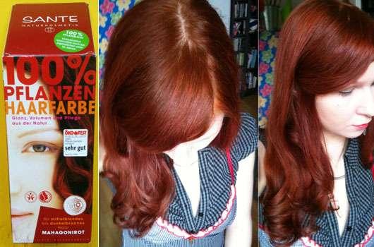 SANTE Pflanzen-Haarfarbe, Farbe: Mahagonirot